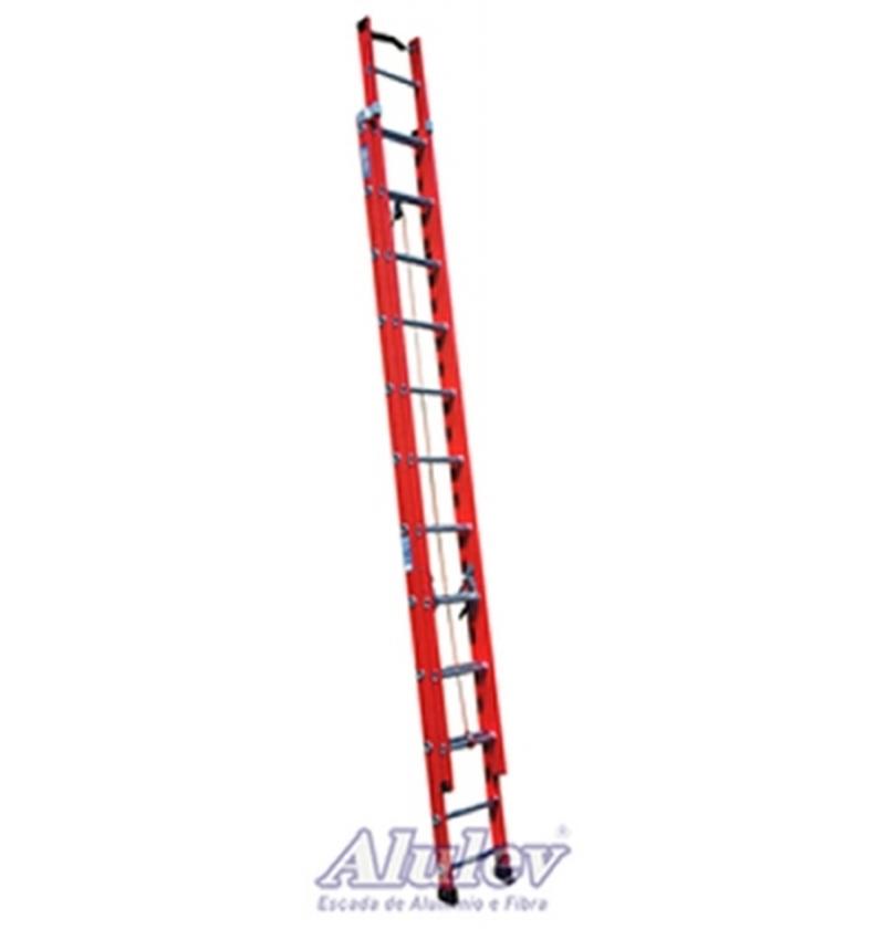 Escada Profissional Fibra Extensível FE15 - 4,8m