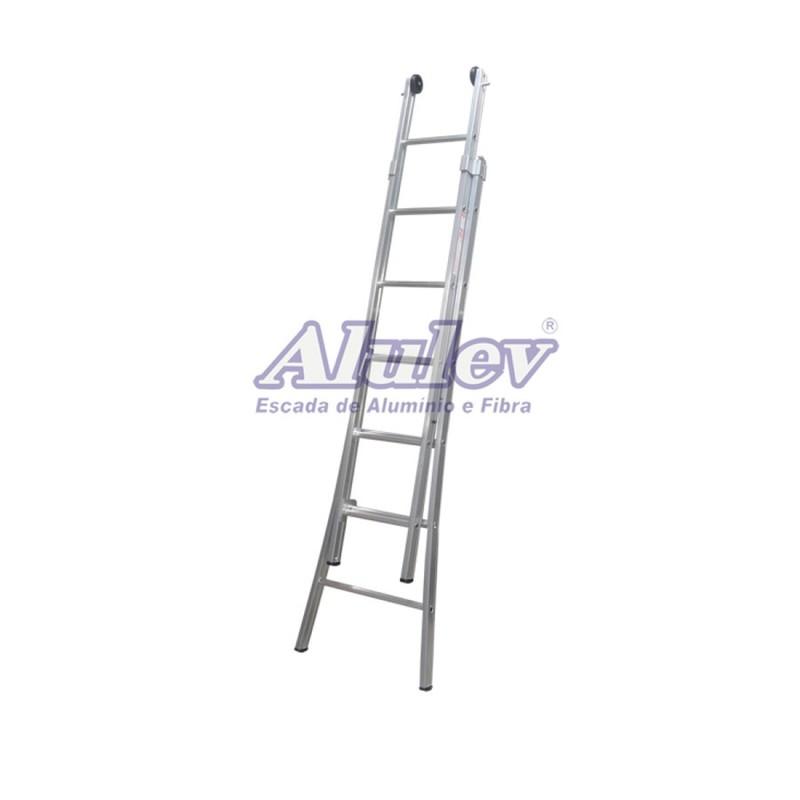 Escada Profissional Esticável Dupla - ED 3 em 1 - 4,80m