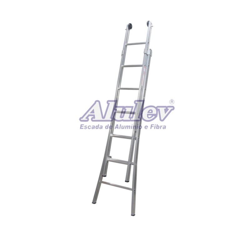Escada Profissional Esticável Dupla - ED 3 em 1 - 4,50m