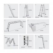 Escada Multifuncional 4x3 Até 3,39m 12 Degraus  MOR