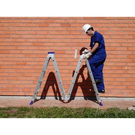 Escada Multifuncional 4x4 Até 4,71m 16 Degraus MOR