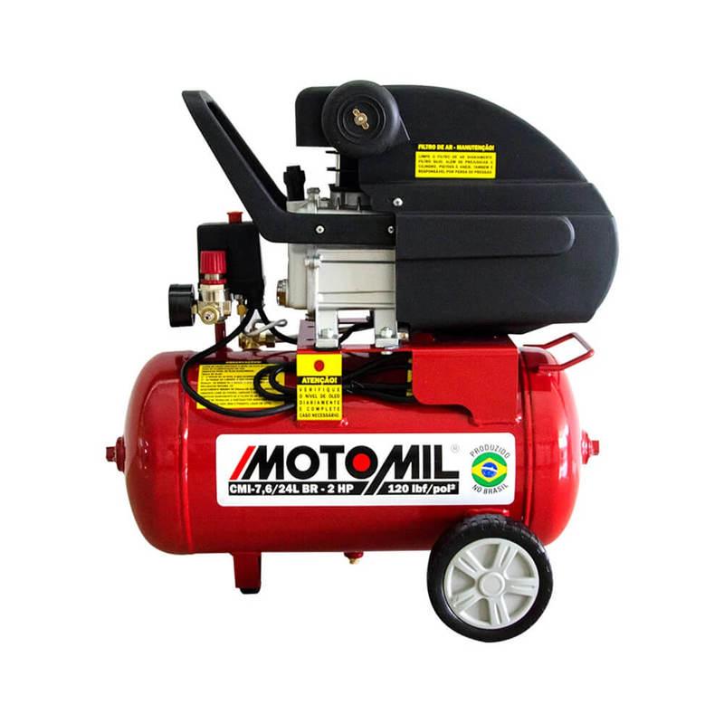 MOTOCOMPRESSOR CMI 7.6/24BR 120LBS 2HP MONO 220V Motomil