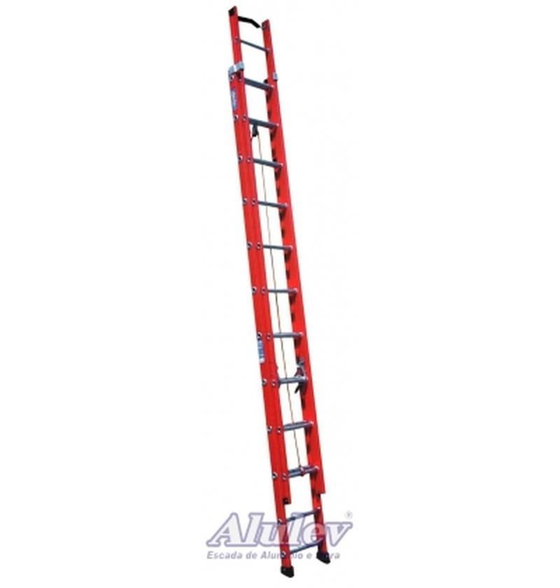 Escada Profissional Fibra Extensível FE23 - 7,20m
