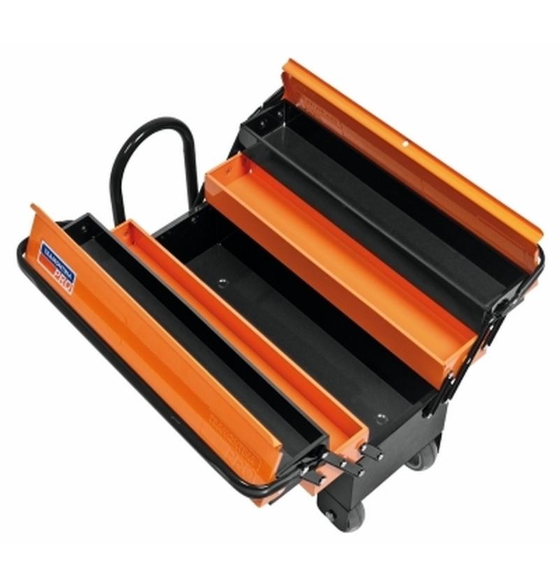 Caixa Sanfonada com Rodas e Puxador Cargobox 5 gavetas TRAMONTINA-PRO