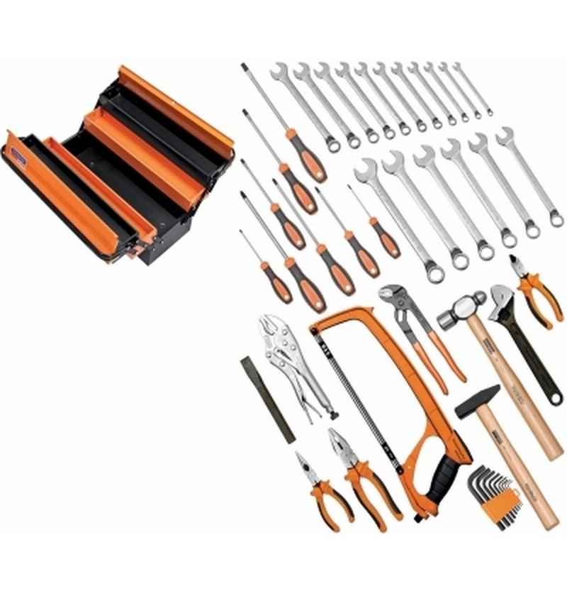 Caixa 5 gavetas com ferramentas 44 peças TRAMONTINA-PRO