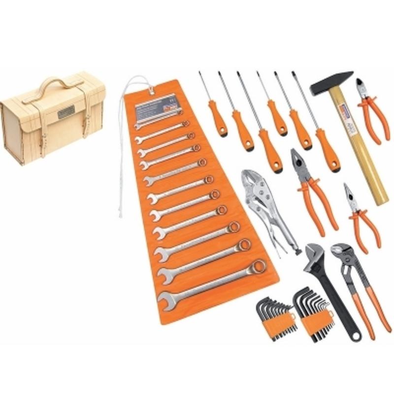 Maleta de couro média com ferramentas 42 peças TRAMONTINA-PRO