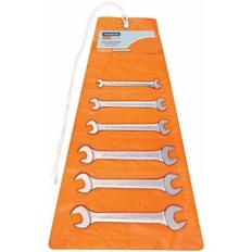 Jogo de chaves fixas Pol - 1/4x5/16 a 13/16x7/8 - 6Pçs