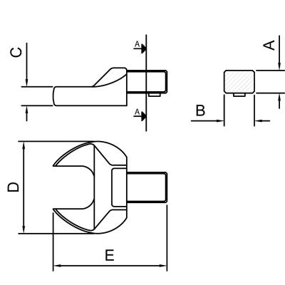 Cabeça Intercambiável Chave Fixa MM 13mm TRAMONTINA PRO