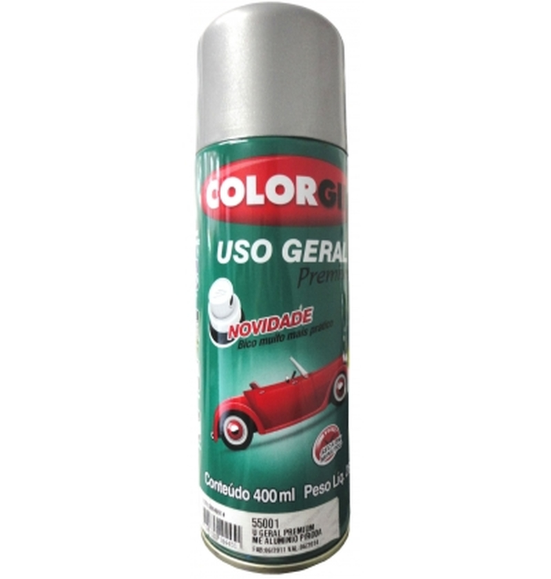Tinta Spray 400 ML Aluminio Rodas Colorgin