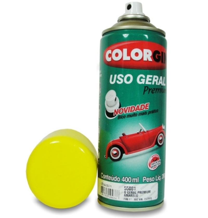 Tinta Spray 400 ML Amarelo Colorgin