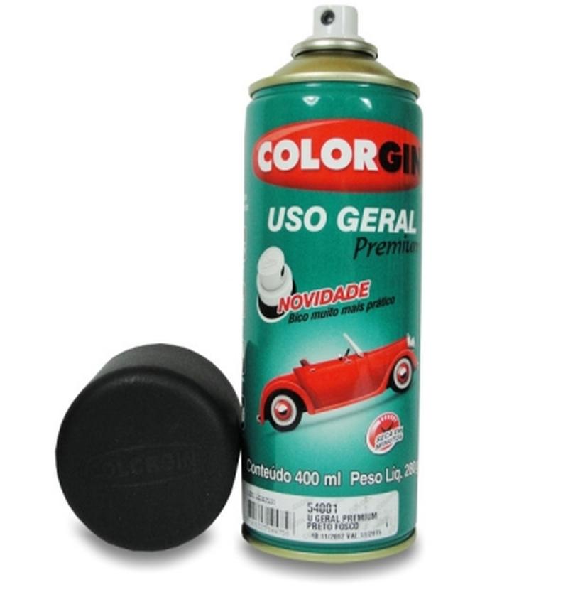 Tinta Spray 400 ML Preto Fosco Colorgin