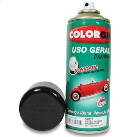 Tinta Spray 400 ML Preto Rápido Colorgin