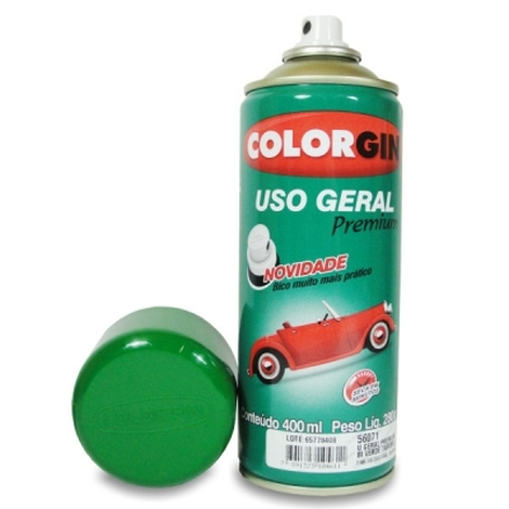 Tinta Spray 400 ML Verde Colorgin