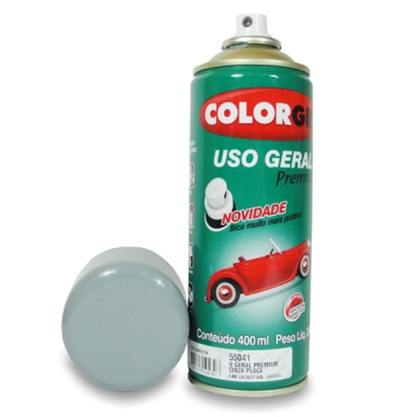 Tinta Spray 400 ML Cinza Placa Colorgin
