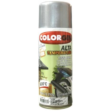 Tinta Spray 400 ML Alta Temp Alumínio Colorgin