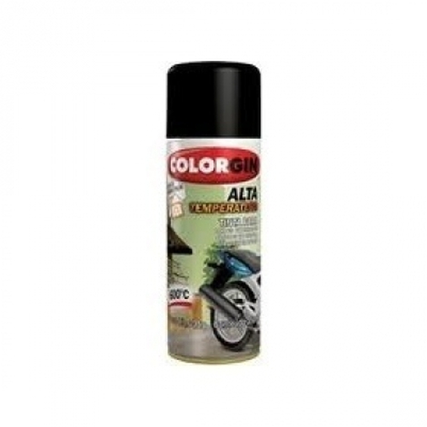 Tinta Spray 400 ML Alta Temp Preto Colorgin