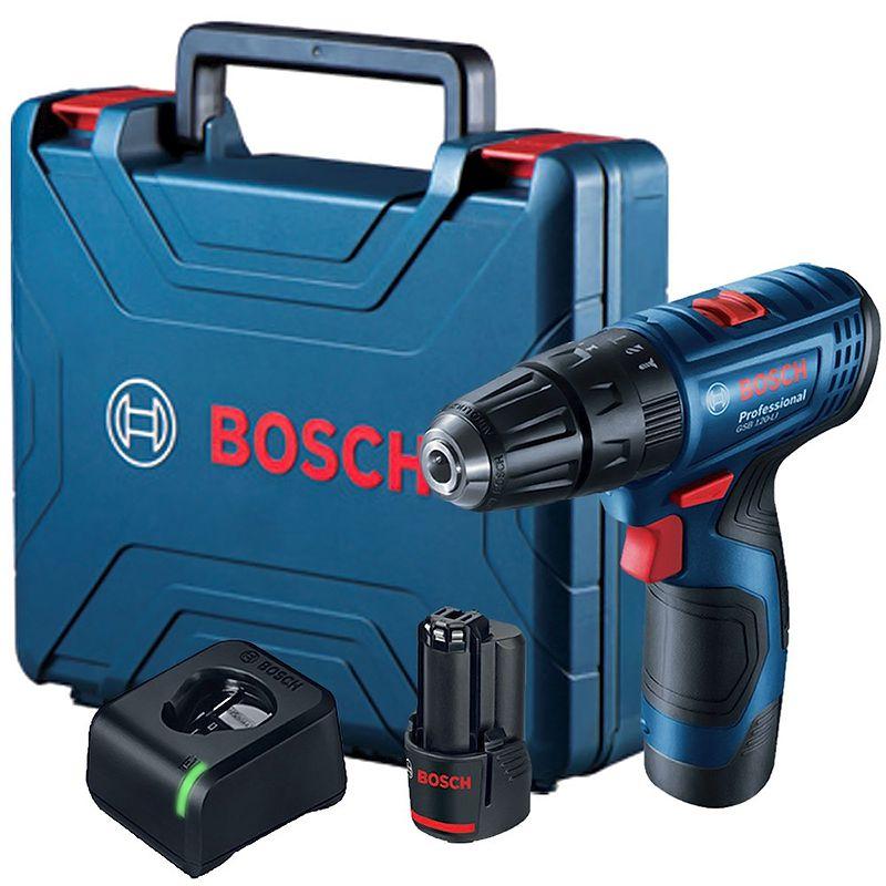 Furadeira de Impacto/Parafusadeira a Bateria GSB 120-LI C/ 2 Baterias
