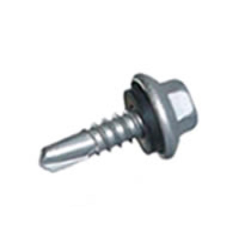 Parafuso autoperfurante 12-14x3/4- Cabeca Sextavada- c/arruela de epcm- ZB