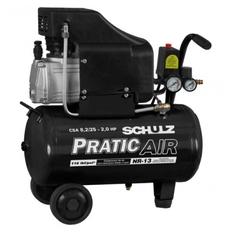 Compressor de Ar 8.2 pés 25 Litros Monofásico SCHULZ