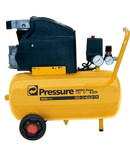 Motocompressor Ar 8,2/24 Litros c/ Certificado do Inmetro PRESSURE