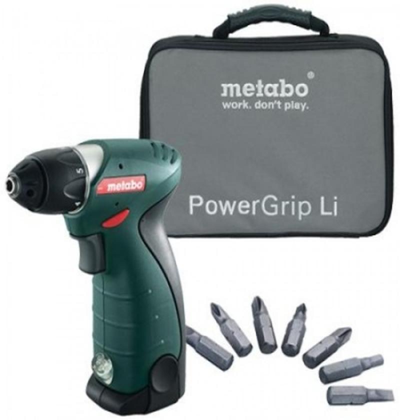 Parafusadeira 7,2V PowerGrip Li + LC 60  METABO