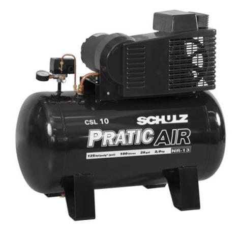 Compressor de Ar 10 pés 100 litros Monofásico CSV10/100 SCHULZ