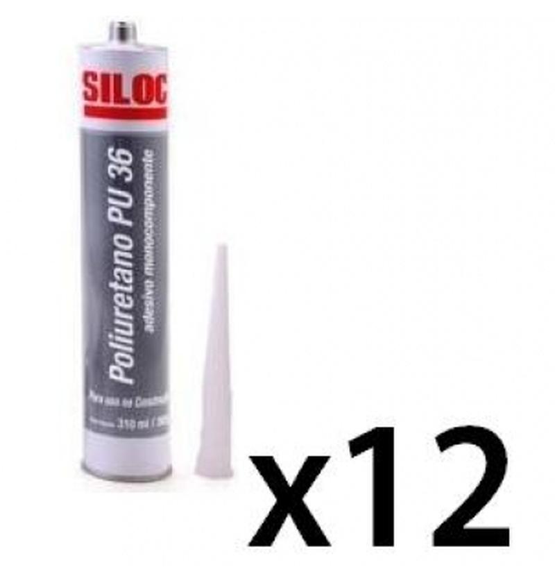 Poliuretano PU 36 CINZA 310ml SILOC 12Unidades