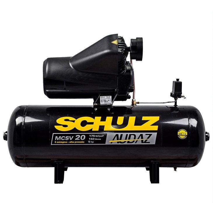 Compressor de Ar Audaz 5HP Trifásico MCSV20/200 Schulz