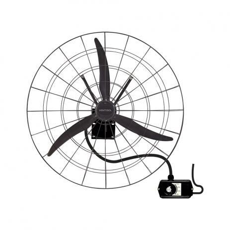 Ventilador de Parede Industrial 1M Preto Ventisol