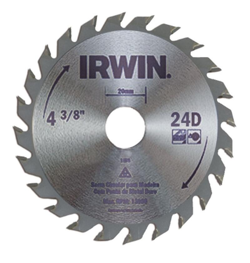 Serra circular 110mm - 13000RPM- Irwin 24 dentes