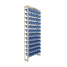 Kit Estante Gaveteiro Prática 60/3 Azul