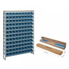 Kit Estante Gaveteiro Prática 108/3 Azul